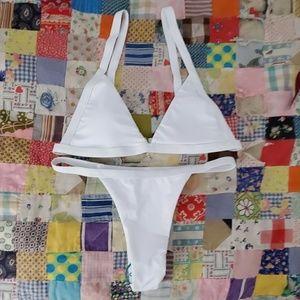 ZAFUL High Waisted Seamless White Bikini